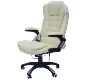 Chaise à massage électrique coloris crème